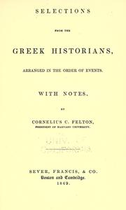 Cover of: Selections from the Greek historians