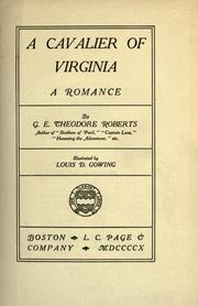 Cover of: A cavalier of Virginia