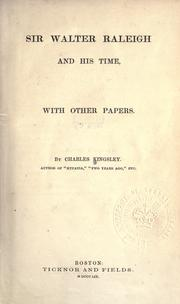 Cover of: Sir Walter Raleigh and his time, with other papers