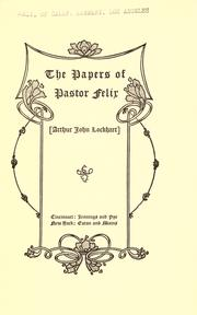 Cover of: The papers of Pastor Felix