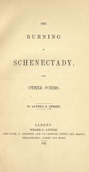 Cover of: The burning of Schenectady