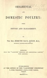 Cover of: Ornamental and domestic poultry