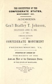 Cover of: The constitution of the Confederate States, Montgomery, 1861