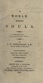 Cover of: A world without souls