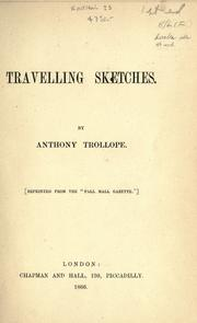 Cover of: Travelling sketches