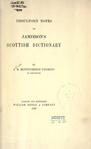 Cover of: Desultory notes on Jamieson's Scottish dictionary