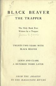 Cover of: Black Beaver, the trapper