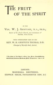 Cover of: The fruit of the spirit