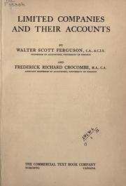 Cover of: Limited companies and their accounts by Walter Scott Ferguson