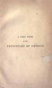 Cover of: A text book of the principles of physics by Alfred Daniell