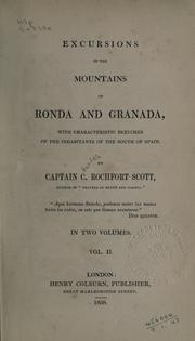 Cover of: Excursions in the mountains of Ronda and Granada
