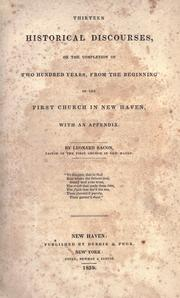 Cover of: Thirteen historical discourses