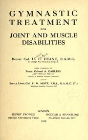 Cover of: Gymnastic treatment for joint and muscle disabilities