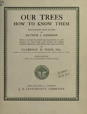 Cover of: Our trees, how to know them