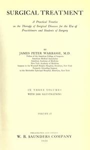 Cover of: Surgical treatment