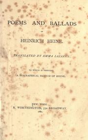 Cover of: Poems and ballads of Heinrich Heine