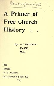 Cover of: A primer of Free Church history