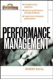Cover of: Performance management