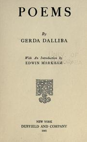 Cover of: Poems, Gerda Dalliba