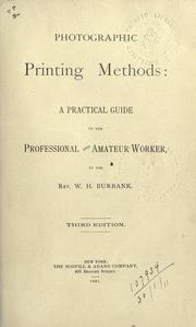 Cover of: Photographic printing methods