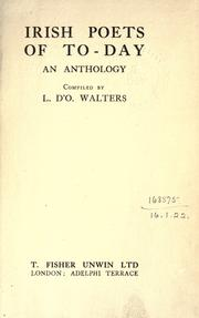 Irish poets of to-day by Walters, Lettice D'Oyly