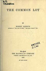 Cover of: The common lot