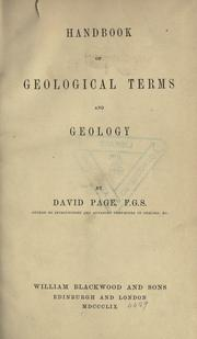 Cover of: Handbook of geological terms and geology