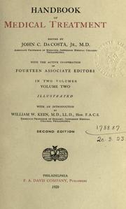 Cover of: Handbook of medical treatment