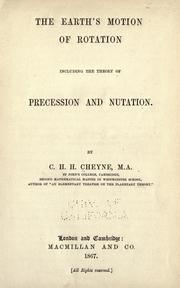 Cover of: The earth's motion of rotation