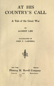 Cover of: At his country's call