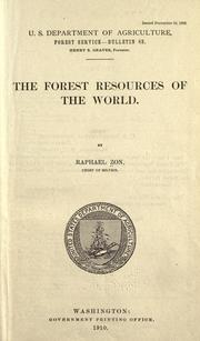 Cover of: The forest resources of the world