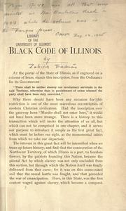 Cover of: Black code of Illinois
