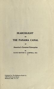 Cover of: Searchlight on the Panama Canal; or, America's greatest enterprise