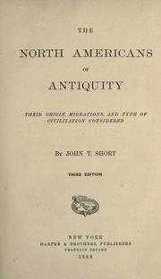 Cover of: The North Americans of antiquity