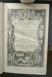 Cover of: Philippi Clüveri Germaniæ antiquæ libri tres