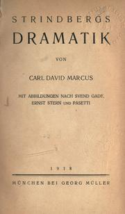 Cover of: Strindbergs Dramatik