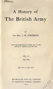 Cover of: A history of the British army