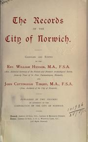 Cover of: The records of the city of Norwich