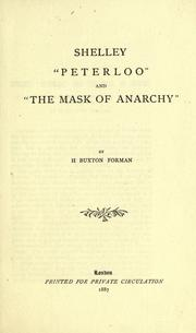 "Cover of: Shelley, ""Peterloo"" and ""The Mask of Anarchy"""