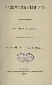 Cover of: Backward glimpses