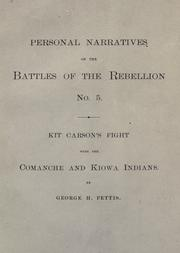 Cover of: Kit Carson's fight with the Comanche and Kiowa Indians, at the Adobe Walls on the Canadian River, November 25th, 1864