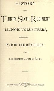 Cover of: History of the Thirty-sixth regiment Illinois volunteers