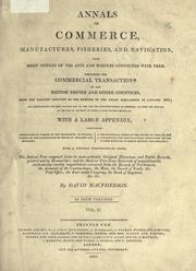 Cover of: Annals of commerce, manufactures, fisheries, and navigation
