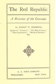Cover of: The red republic by Robert William Chambers