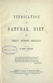 Cover of: A vindication of natural diet