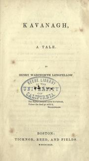 Cover of: Kavanagh, a tale