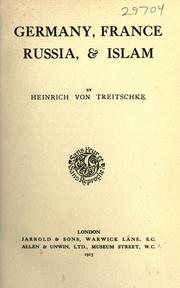 Cover of: Germany, France, Russia, & Islam