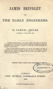 Cover of: James Brindley and the early engineers
