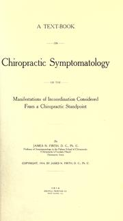 Cover of: A text-book on chiropractic symptomatology