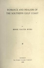Cover of: Romance and realism of the southern Gulf coast